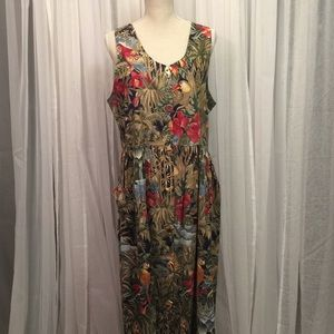 Vintage Tropical Carol Art Designs Maxi Dress